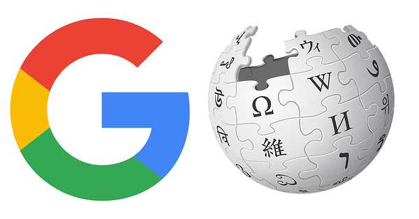Resource research with google and wikipedia