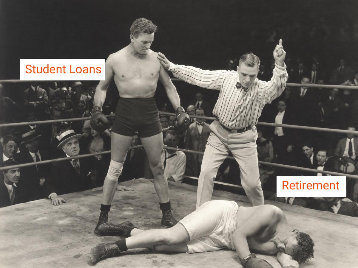 student loan vs retirement 1200x900